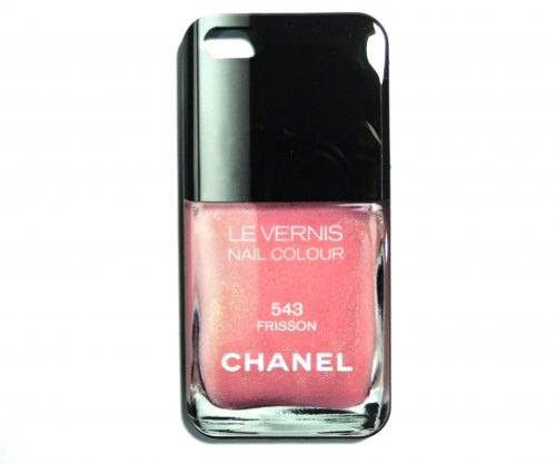 Pink Chanel Les vernis iPhone 5/5S Cover-0