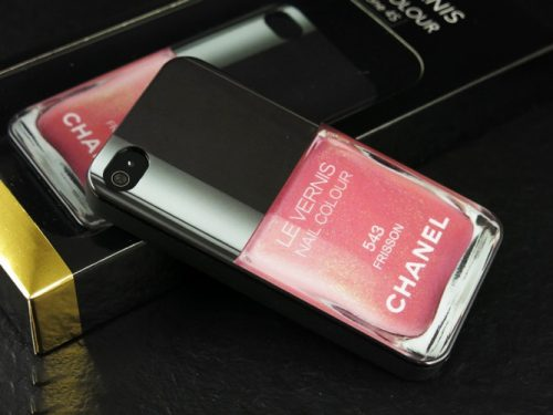 Pink Chanel Les vernis iPhone 5/5S Cover-3659