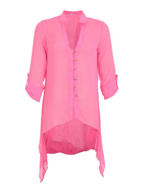 The Neon Pink Blouse-0