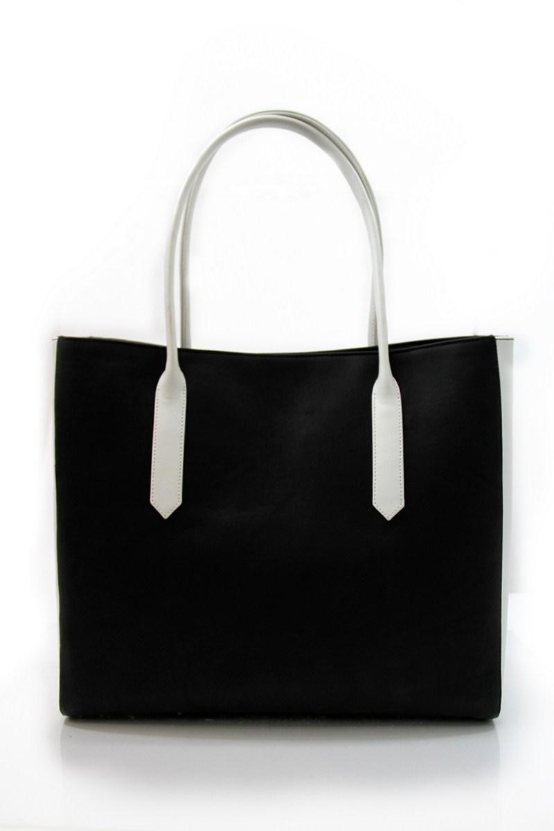 Black Moustache Print Bag -1854