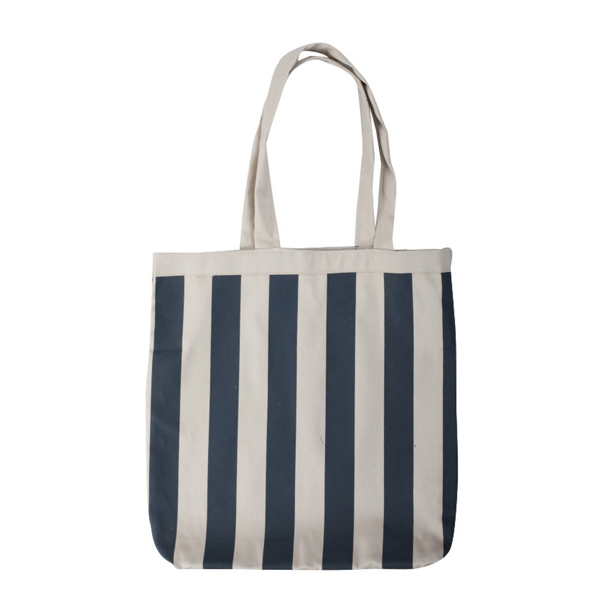 Navy Striped Canvas Tote-0