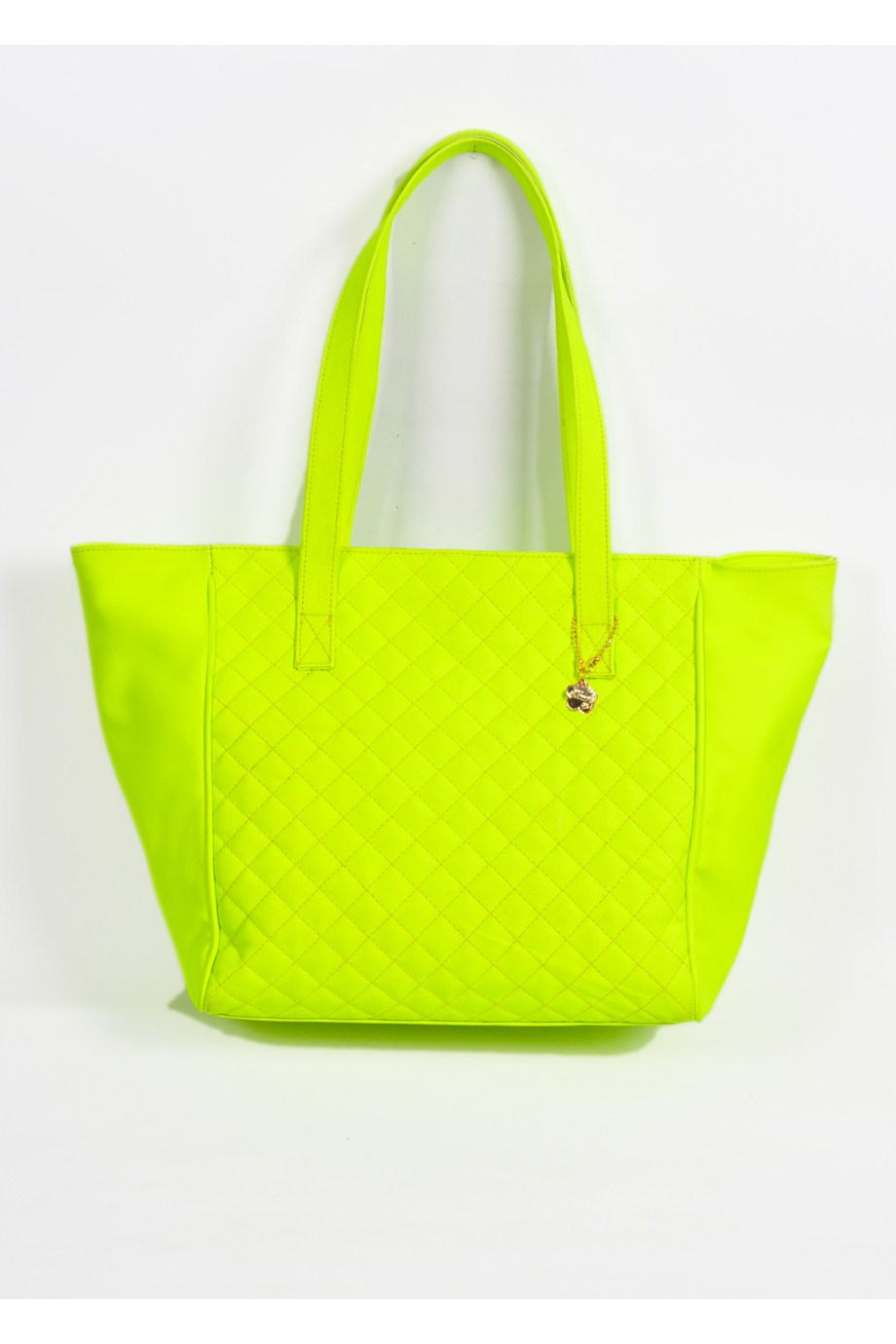 Neon Yellow Leather Tote-0
