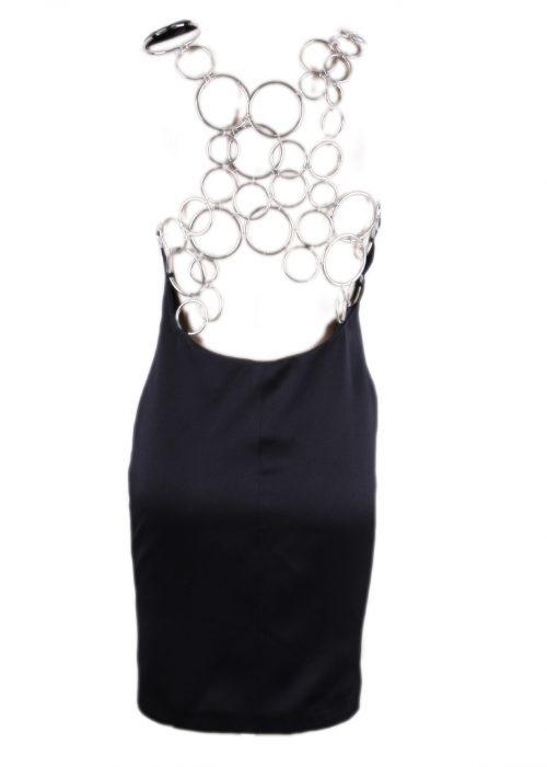 BLACK SHORT DRESS -4133