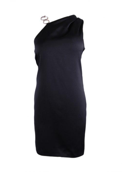 BLACK SHORT DRESS -0