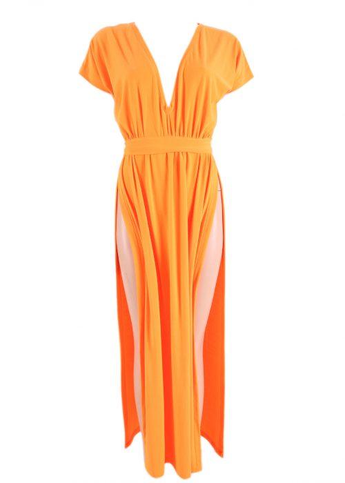 Split V-Dress-0