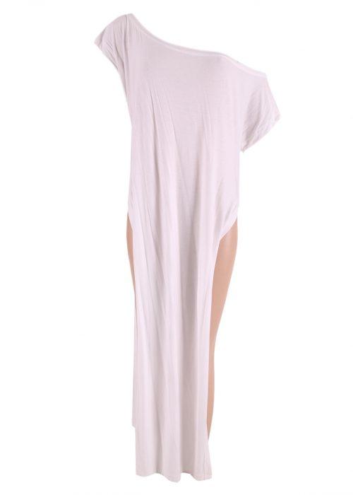 Split Dress Off Shoulder-0