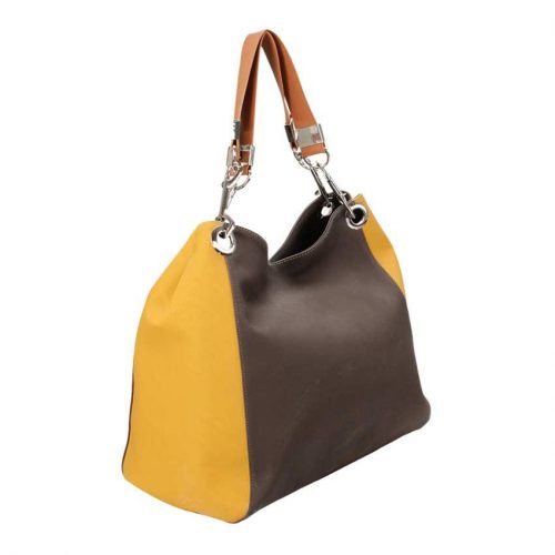 Brown and Yellow Tote-4364
