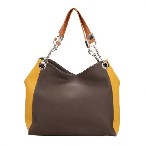 Brown and Yellow Tote-0