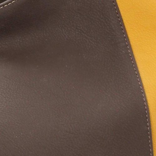 Brown and Yellow Tote-4365
