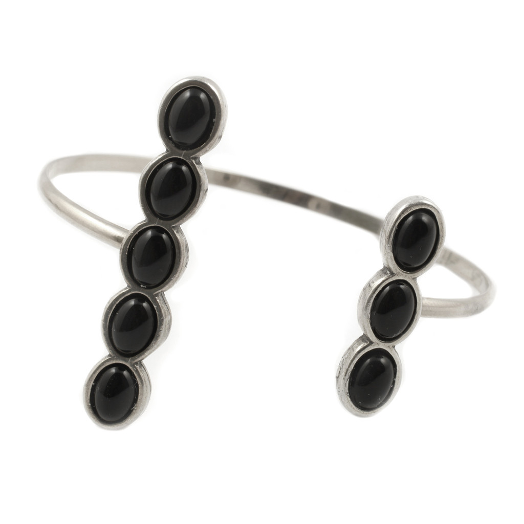 Black Beads Cuff Enigma Shopping